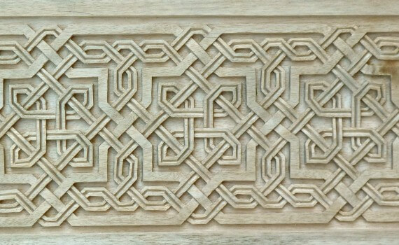 Islamic-style woodcarving based on a 14th-century Moorish design.