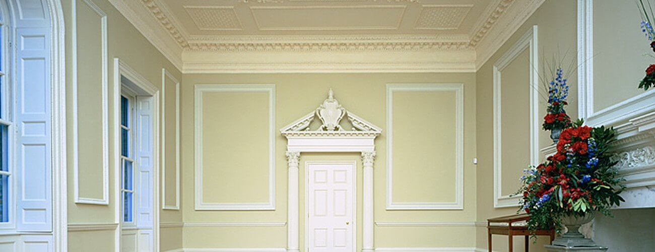 Agrell Architectural Carving hand-carved moulding, capitals, and other ornaments for this London residence.