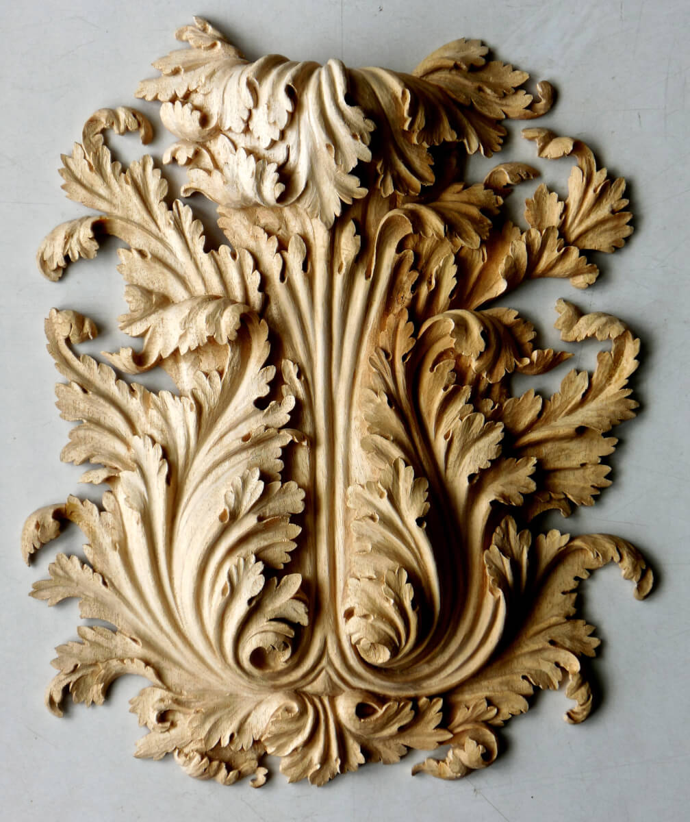Acanthus leaf woodcarving by Agrell Architectural Carving