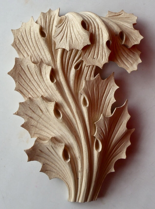 woodcarving byGothic-style acanthus leaf Agrell Architectural Carving
