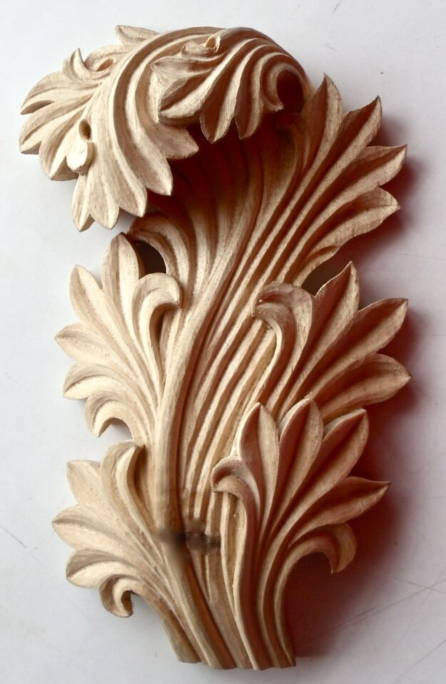 Greek-style acanthus leaf woodcarving by Agrell Architectural Carving