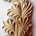Romanesque-style acanthus leaf woodcarving by Agrell Architectural Carving