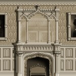 This design for a Gothic-style room was rendered by Adam Thorpe for Agrell Architectural Carving.