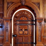 Agrell Architectural Carving partnered with a mill shop to produce this Jacobean-style doorway.