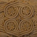 Byzantine-style panel hand-carved in wood by Agrell Architectural Carving.