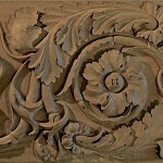 Roman-style frieze hand-carved by Agrell Architectural Carving.