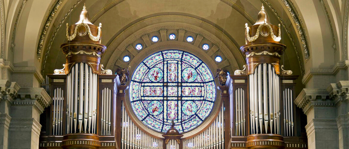 Agrell Architectural Carving built, carved, and installed the organ case for the Cathedral of Saint Paul in Minnesota. The architect was Duncan Stroik.