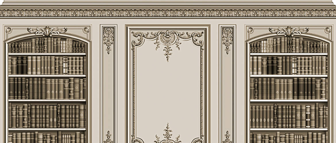 Room with French-style decoration designed by Adam Thorpe.