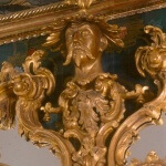 Detail of a gilded Rococo overmantle
