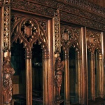 Gothic screen woodcarving reproduction by Agrell Architectural Carving