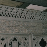 The original carved Gothic screen