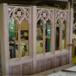 Gothic-style oak screen
