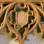 Hand-carved Gothic screen in white oak