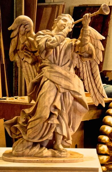 Hand-carved by Agrell Architectural Carving for the Cathedral of St. Paul, Minnesota.