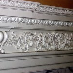 Detail of fireplace frieze with egg-and-dart