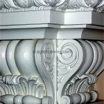 Detail of fireplace brackets or corbels
