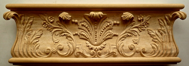 Wood-carved French Louis XIV-style moulding by Agrell Architectural Carving.