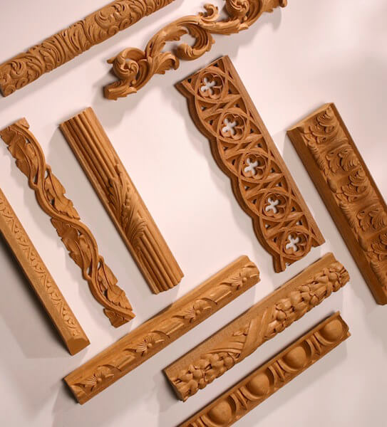 Some of our favorite and most popular wood-carved mouldings.