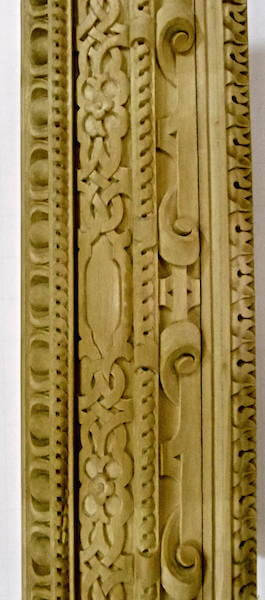 We created an exact replica of the Mona Lisa frame for an artist client. Wood-carved by Agrell Architectural Carving.