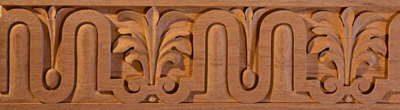 Wood-carved Baroque-style band moulding by Agrell Architectural Carving.