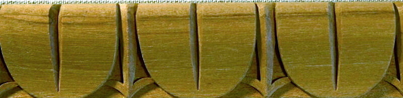 Wood-carved Roman tongue moulding based on a motif found at Trajan's Forum. By Agrell Architectural Carving.