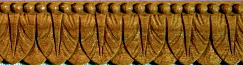 Leaf moulding based on a woodcarving found at Syon House in England. By Agrell Architectural Carving.