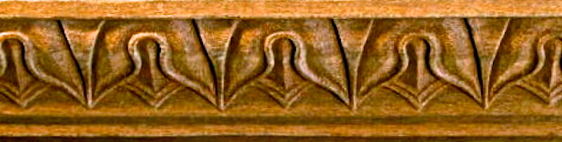 Lamb's tongue moulding based on a design found on the tomb of Alexander the Great. By Agrell Architectural Carving.