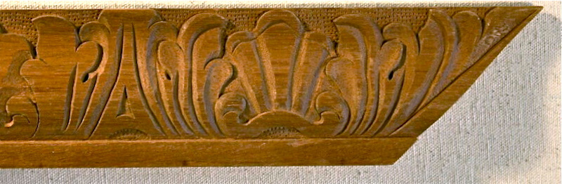 Wood-carved acanthus and shell moulding by Agrell Architectural Carving.