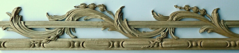 Pierced Chippendale-style moulding for the frame of a pelmet. By Agrell Architectural Carving.