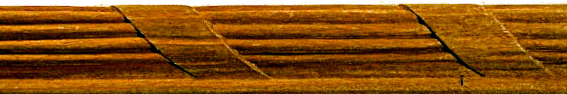 Wood-carved ribbon and reed moulding by Agrell Architectural Carving.