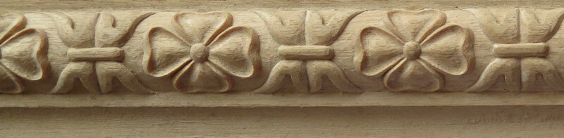 Wood-carved French torus moulding by Agrell Architectural Carving.