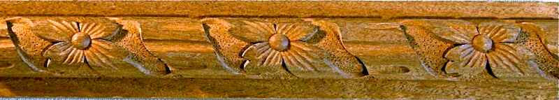 Wood-carved 18th century-style moulding by Agrell Architectural Carving.