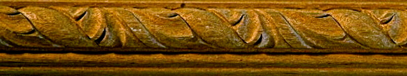Wood-carved acanthus rope twist moulding by Agrell Architectural Carving.