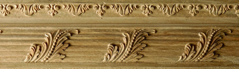 French-style acanthus and reed moulding based on a woodcarving found at Versailles. By Agrell Architectural Carving.