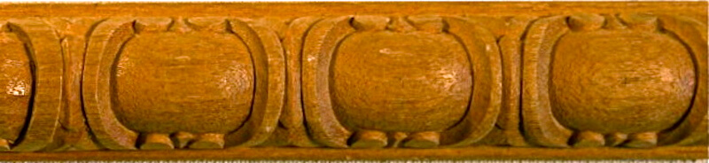 Wood-carved cabochon (or polished gemstone) moulding by Agrell Architectural Carving.