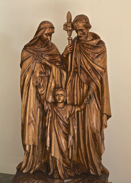 Woodcarving is approximately 5 feet tall. For a church in Minnesota.