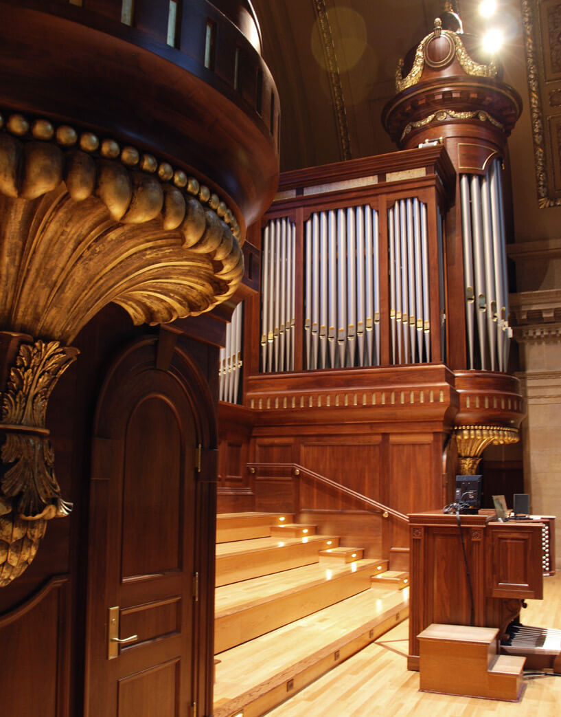 Detail of the organ case for the Cathedral of St Paul, Minn.