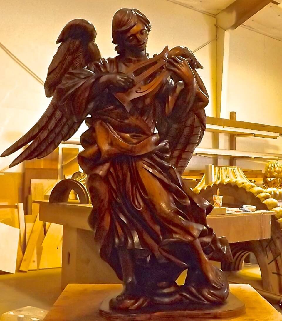 Angel woodcarving by Agrell Architectural Carving