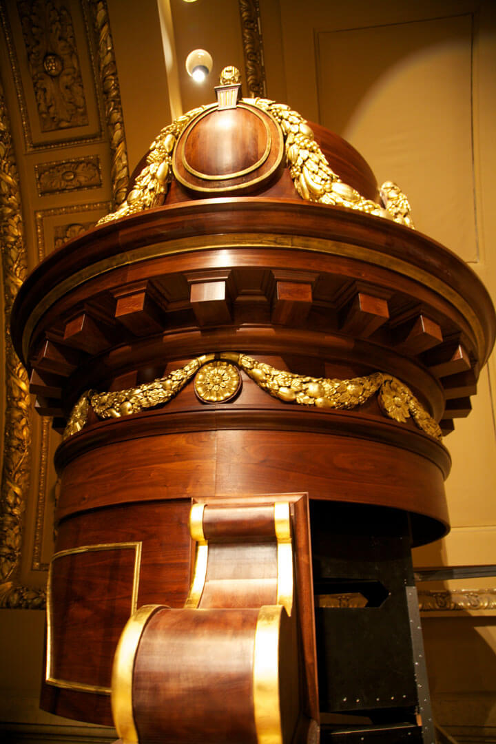 Detail of a dome for the organ case of the Cathedral of St. Paul, Minn.