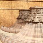 Hand-carved walnut brackets