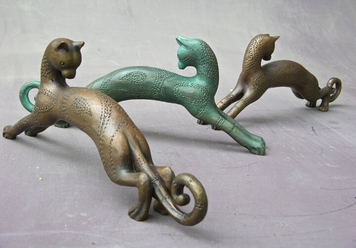 Bronze cats by Armand-Albert Rateau