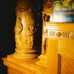 Hand-carved column bases