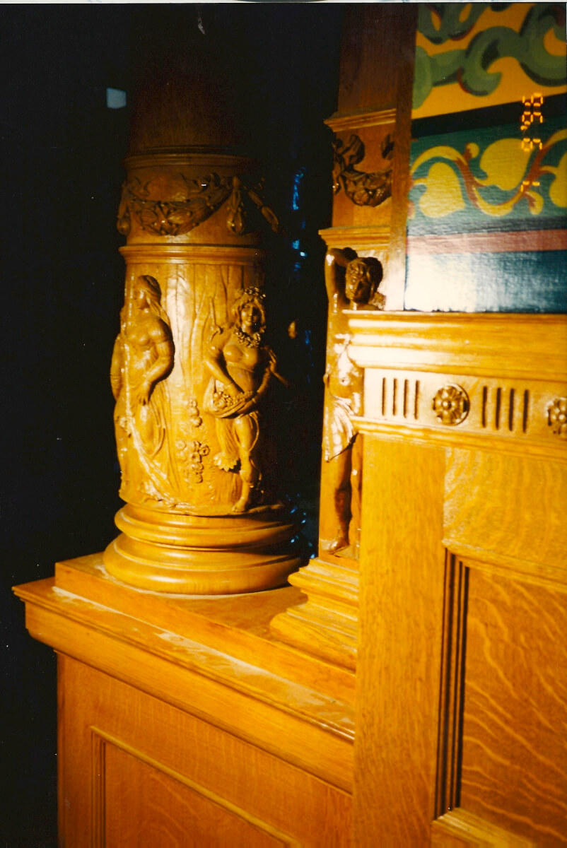 Hand-carved column bases