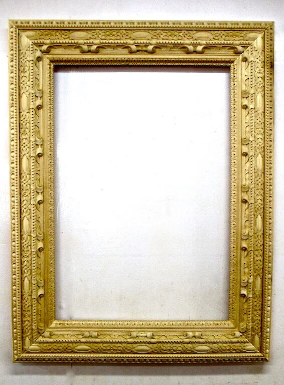 Mona Lisa frame ready to be gilded