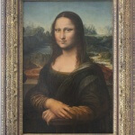 The finished Mona Lisa frame