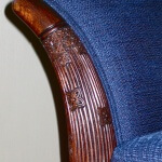 Detail of Rateau-inspired armchair