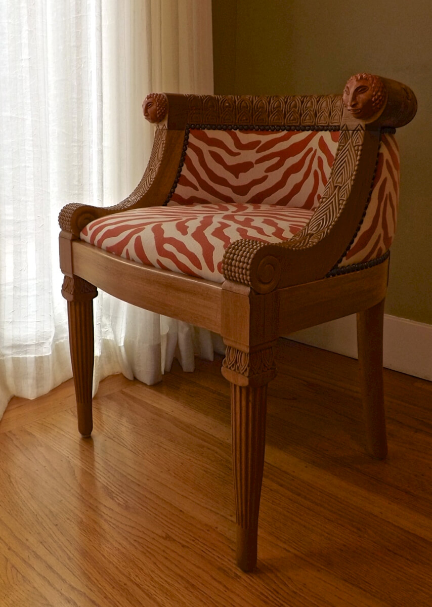 Rateau-inspired armchair