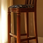 Rateau-inspired bar stool