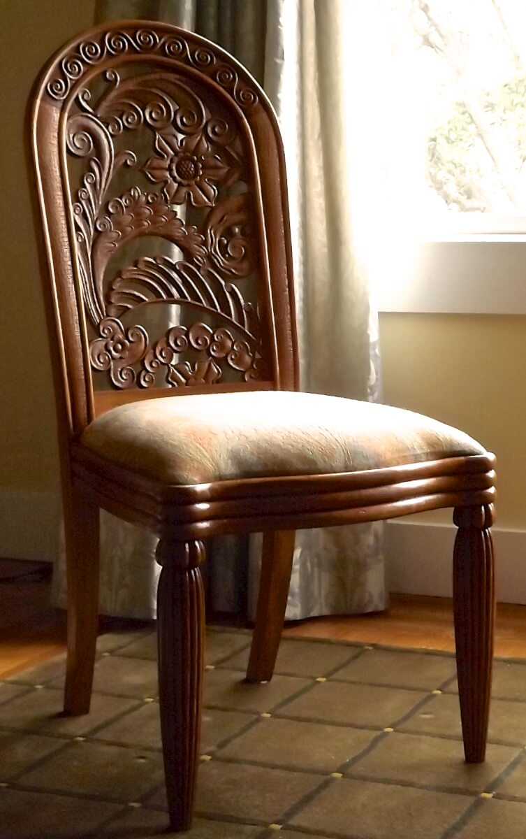 Rateau-inspired dining room chair