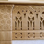 Detail of Rateau-inspired fire surround